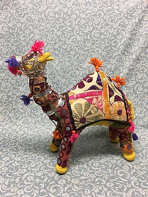 "Vintage hand made Embroidered Camel Made In India 12"" tall"