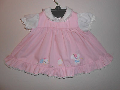 Nannette Little Girls Dress With Matching Ruffled Bloomers 3-6 Months Pink