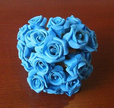 Discount Bulk Flower Wedding Bouquet Venue Decoration Craft Rose Foam Blue