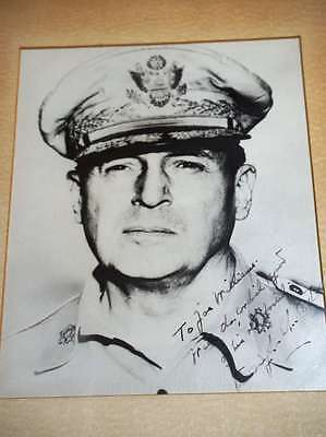 GENERAL DOUGLAS MACARTHUR JSA COA HAND SIGNED 8x10 PHOTO AUTHENTICATED AUTOGRAPH