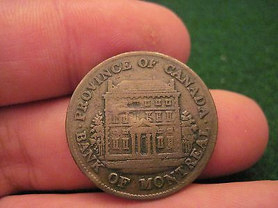 1844 Half Penny Token Bank Of Montreal Early Canadian Bank Token