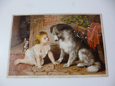 Dr Jayne's Expectorant Trade Card Child & Dog can't You Talk Harrison City PA