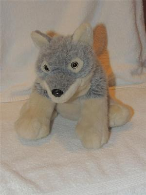 Plush Gray Grey Wolf Stuffed Animal K & M International