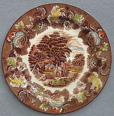 4 Enoch Woods English Scenery Woodsware Multi-color Snack Plates England