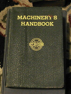 MACHINERY'S HANDBOOK 1941 11th Ed  W/ Thumb Index