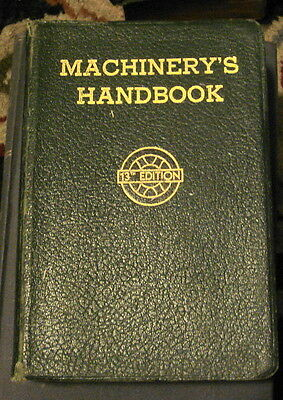 MACHINERY'S HANDBOOK 1946 13th Ed  W/ Thumb Index