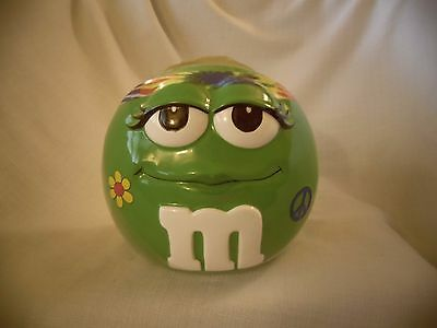 New M&M Green Candy Jar Cookie Jar 1960s Look #83