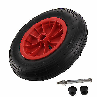 "New Inflatable Rubber Tyre 14"" Pneumatic Wheelbarrow Wheel 3.50-8 Replacement"