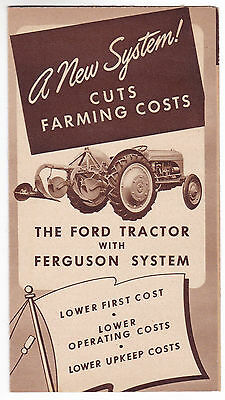 Ford Tractor with Ferguson System Advertising Pamphlet