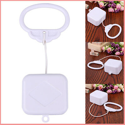 Funny Pull String Cord Music Box White Baby Gift infant Bed Bell hanging Toy