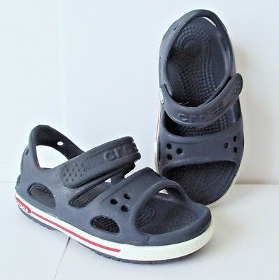 Crocs Crocband II Navy Blue Sandals Baby Toddler Boy Shoes sz 3M