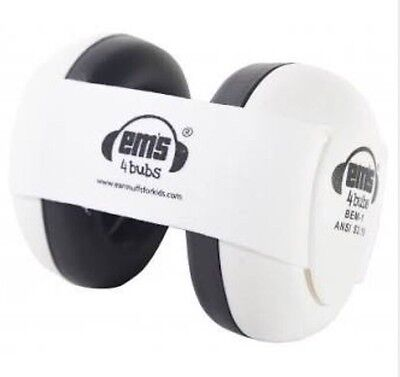 Ems 4 Bubs Baby Earmuffs 0-18months White As New Condition Never Used