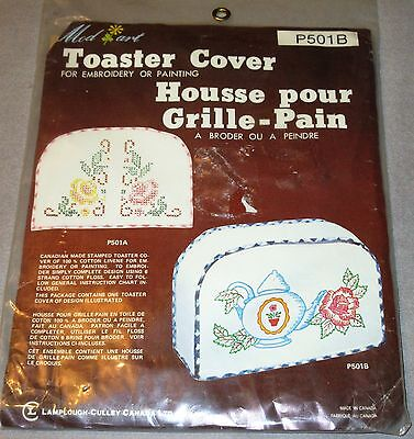 Lovely  Vintage Mod Art Toaster Cover for Embroidery or Painting Floral Teapot