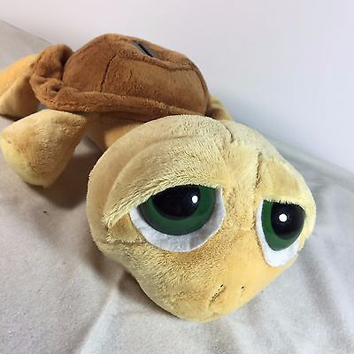 """SHELLY by RUSS - Plush Yellow Brown Turtle Piggy Bank - 12"""" Stuffed Toy - RARE"""