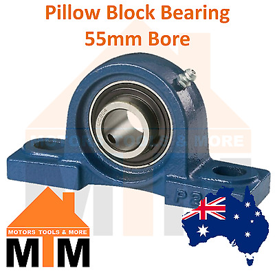 Pillow Block Bearing Self Aligning Bottom Foot Mount Housing 55mm Bore