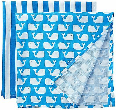 (TG. Taglia unica) Toby Tiger Whale Muslin Two Pack, Foulard (s8e)