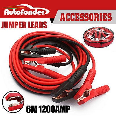 6M 1200AMP Jumper Lead Protected Jump Heavy Duty Car Booster Cable Truck Van