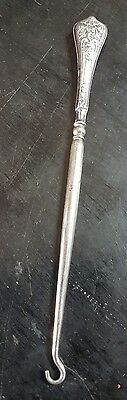 Antique Sterling Silver Button Hook James.f.wileman 1869-92 Stamped 925 Etc
