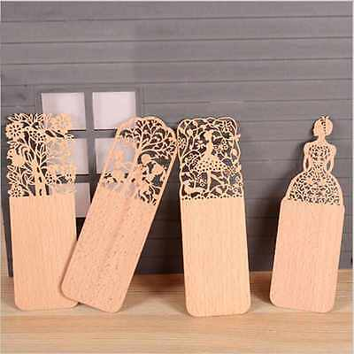 3pcs Kawaii Creative Wood Bookmark Bookmarks For Books Markers Wood Bookend