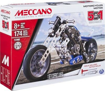 NEW Meccano 5 In 1 Motorcycles from Mr Toys