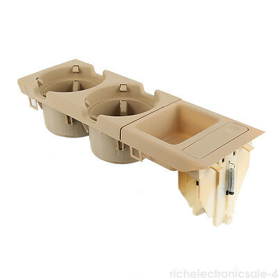 1999-06 For BMW E46 3 SERIES OE Center Console Storing COIN BOX CUP HOLDER Beige