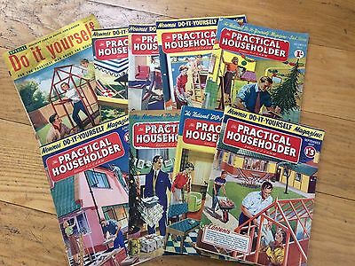 Selection Of Practical Householder DIY Magazines From 1950's