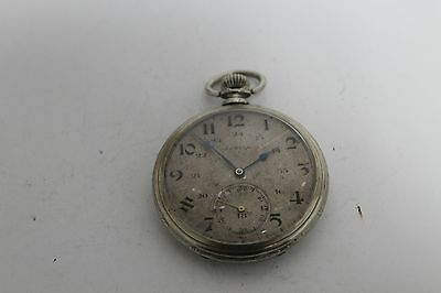 Antique Vintage Old Swiss Made Zenith Pocket Watch ART DECO