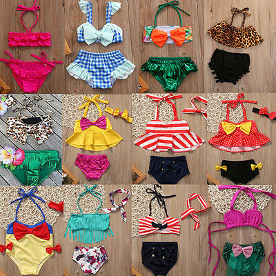 Summer Toddler Girls Kid Tankini Bikini Swimsuit Swimwear Bathing Suit Beachwear