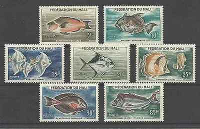 Timbres Poissons Mali 2/8 ** lot 20664