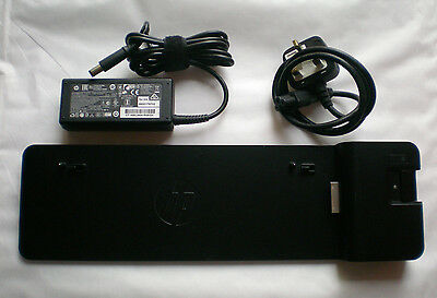 HP 2013 UltraSlim Elitebook Docking Station HSTNN-IX10 B9C87AA with AC Adapter