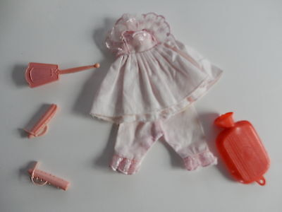 Vintage Tuppence Doll Time For Bed Outfit Clothes and accessories
