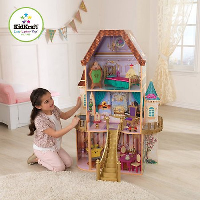 Disney Belle Enchanted Dollhouse with Furniture, by KidKraft, NEW/USED