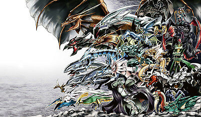 F744 FREE MAT BAG Dragon Dark Magician Girl Yugioh Trading Card Game Playmat