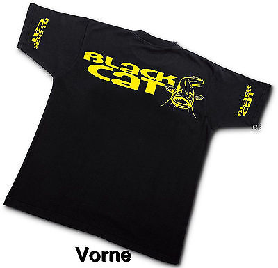 Black Cat T-Shirt Waller Wels Shirt Wallerangeln TShirt Angeln Catfish