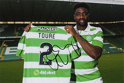 Kolo Toure, Glasgow Celtic, signed 6x4 inch photo. COA. Proof. Arsenal legend.