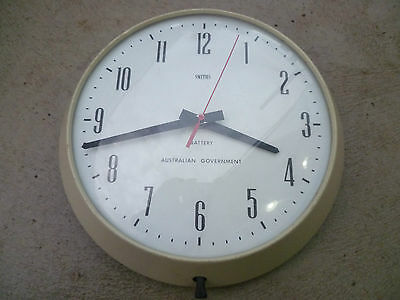 Vintage SMITHS  Australian Government wall clock c.1960s working