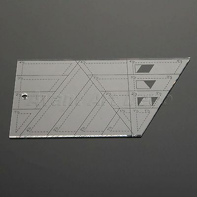 Patchwork Rulers Qulting Sewing Cutting Tailor Tools Trapezoid Triangle Diamond