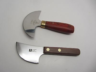 2 Tandy Al Stohlman Leather Craft Skiving Round Head Knife Murphy Caming Knife