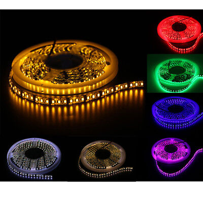 12V/24V 3528 Led Strip Lights 120LEDS/M 5M 600SMD Waterproof White/Blue/Pink/Red
