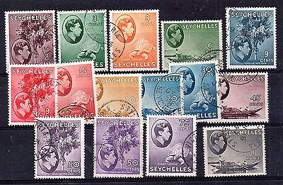 Seychelles KGVI 1938-49 used collection unchecked WS4633