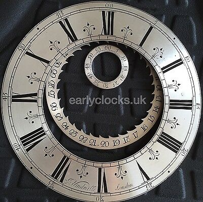 Antique Clock Dial Refinishing - Lantern Bracket Longcase