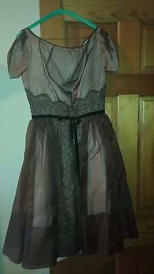 1950s 50s Vintage Topsey Originals Lace Rayon Cocktail / Girls? 60s? dress