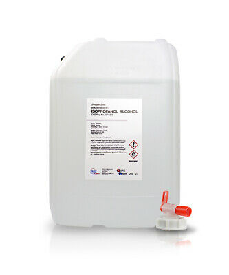 IPA Isopropanol ALCOHOL Industrial PureChem 99.9% 20 LITRE CONTAINER 20L