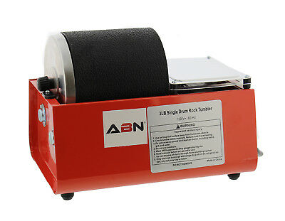 ABN 3 lb Pound Rotary Rock Tumbler with Single Drum