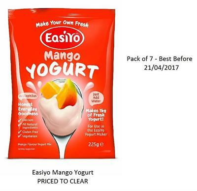 EasiYo Mango *PRICED TO CLEAR BEST BEFORE 21/04/2017* Pack of 7