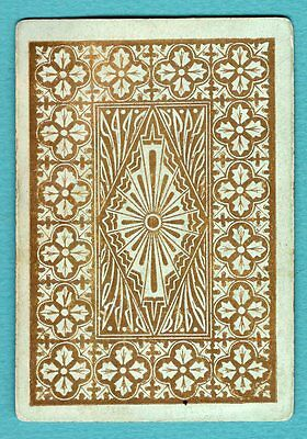 1 Single Swap Playing Card ANTIQUE WIDE #27a NICE DESIGN LIGHT GREEN OLD VINTAGE
