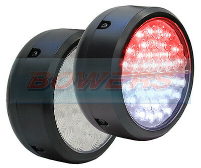 Peterson Pm Pm-1219F-C Clear Lens Led Rear Round Fog And Reverse Lamp Light