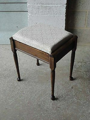 Vintage Piano Stool With Storage Seat.