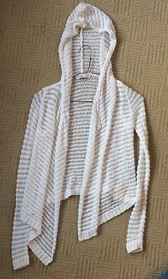 Girls Abercrombie White Hoodie Sweater Size Small