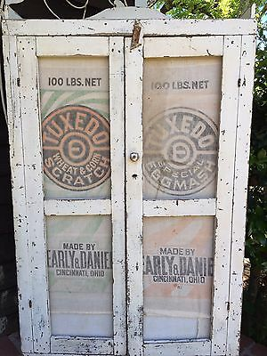 Antique ALABAMA PRIMITIVE Farmhouse JELLY CUPBOARD~Old Paint~Feedsack~1800/1900s